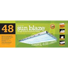 sun blaze t5 ho fluorescent light fixture 4 ft 8 lamp for