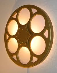 backlit film reel wall sconce home theater mart wall sconces