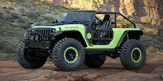 tank green jeep jeep shows 707 horsepower hellcat powered off roader