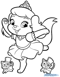 palace pets coloring pages disney coloring book