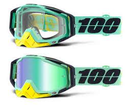 motocross goggles ebay 100 percent racecraft mx motocross goggles kloog clear green