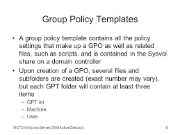 chapter 7 configuring group policy ppt video online download