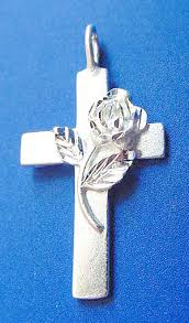 cross with rose necklace images Jewelry by rhonda wedding jewelry bridesmaid 39 s jewelry cake JPG