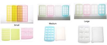 Baby Storage Covered Ice Cube Trays With Lid Containers Baby Food Ingredients