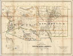 Map Of Arizona And New Mexico by 19th Century Arizona Maps