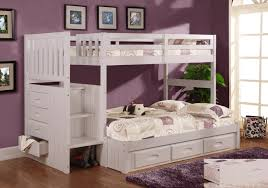 White Wooden Furniture White Stair Stepper Twin Over Full Bunk Bed Discovery Furniture