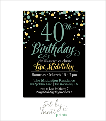 birthday invitation templates 40th birthday invitations 25 40th birthday invitation