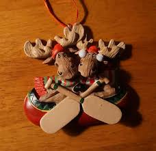 moose canoe ornament paddle canoeing cabin lodge