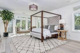Area Rug 9x12 Contemporary Master Bedroom With Doors Hardwood Floors In