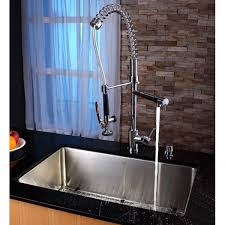 kraus commercial pre rinse chrome kitchen faucet kraus kpf 1602 ksd 30ch single lever pull out kitchen faucet and