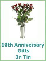 traditional 10th anniversary gift tin aluminum traditional 10th anniversary gifts anniversary