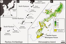 Okinawa Map Sciency Thoughts The Enigmatic Pleistocene Amphibians Of Okinawa