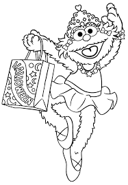 Free Printable Halloween Coloring Sheets by Sesame Street Coloring Pages Getcoloringpages Com