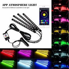 app controlled car lights 7color 12 led ios android app bluetooth control car interior floor