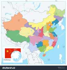 Map Of China With Cities by China Political Map No Text Detailed Stock Vector 706603369