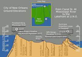 Map Of New Orleans Area by Drainage In New Orleans Wikipedia