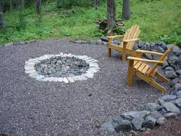 cool backyard fire pit ideas with pan also stones pavers as