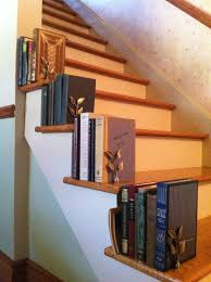 small room interior design with unpolished hickory wood stair