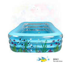 Transparent Bathtub Outdoor Rectangle Portable Baby Transparent Inflatable Family