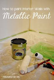 how to paint a metallic accent wall modernmasters the benson street