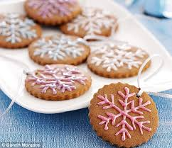 christmas recipes gingerbread snowflake biscuits gingerbread