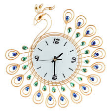 Decorative Wall Clocks For Living Room Online Get Cheap Peacock Decor Clock Aliexpress Com Alibaba Group