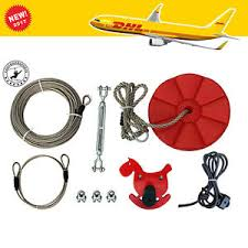 Backyard Zipline Kits by 90 Feet Backyard Zip Line Kit With Seat And Bungee Brake Dhl Fast