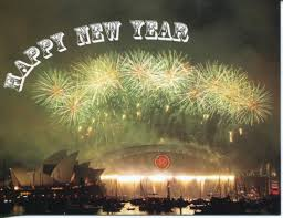 new year s postcards happy new year postcard sydney harbour bridge firework holn01