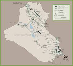 Map Of Iraq And Syria by Map Of Oil Infrastructure In Iraq