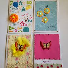 10 greeting cards assortment blank cards pink cards embellished