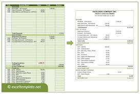 Profit And Loss Statement Template Excel Profit And Loss Statement Excel Templates