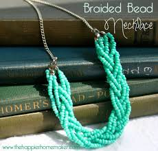 diy necklace bead images Diy braided bead necklace the happier homemaker jpg