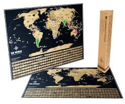 Arizona travel tracker images Scratch off world map black gold world travel tracker map jpg