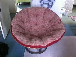 furniture red patterned papasan chair cushion with papasan hair