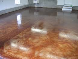 home decor brown concrete garage floor acid stained concrete
