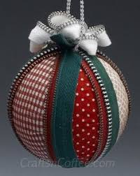 fabric balls fabric covered twine and ornament