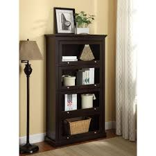 corner bookcase with doors altra furniture alton alley espresso barrister bookcase 9607096