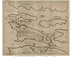 Massachusetts Colony Map by Ri Newport Colonial Maps