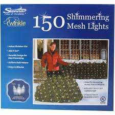 amazon com twinkle net lights 4x6 shimmering mesh 150 lights