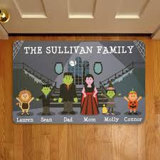 personalized spooky family halloween doormat walmart com