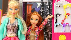 Barbie Photo Booth New Toy Anna U0026 Elsa Do Selfies At Barbie Sisters Photo Booth