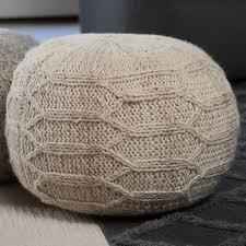 bungalow rose montclair fabric pouf ottoman u0026 reviews wayfair