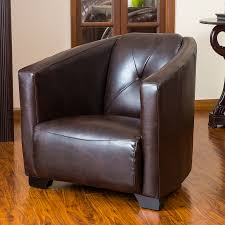 shop best selling home decor dale modern brown faux leather club