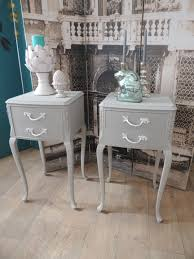 shabby chic pair of french style bedside tables u2013 eclectivo london