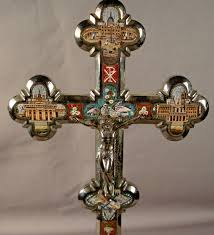 crucifix for sale 8308 a grand tour micro mosaic silver plated crucifix for sale