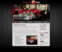 restaurant website template free restaurant web templates