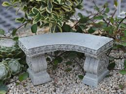 furniture cool curved concrete garden benches concrete stone