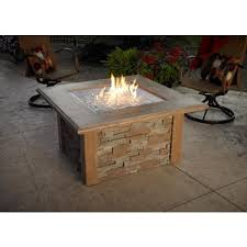 Firepit Top Firepit Table With Ledgestone And Supercast Top In Mocha Finish