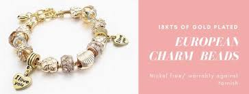bead bracelet european images European charms bead bracelet and chain 18k of gold plated raf jpeg