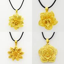2016 mix 4 style gold mandala indian flower pendant necklace